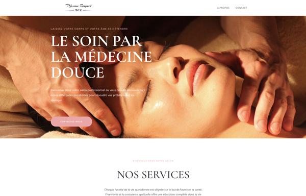 Site internet de médecine douce par Yannick Eychenne Graphiste WebDesigner Graphisme Web-Design